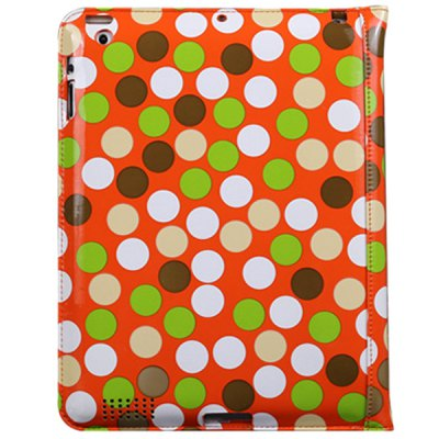 ФОТО DILUO Dots Series Artificial Leather Material Frame + Card Holder Design Stand Case for iPad 2 / 3 / 4