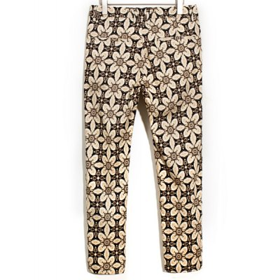 Гаджет   Slimming Trendy Ethnic Totem Print Narrow Feet Cotton Nine Minutes of Pants For Men Pants