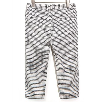 Гаджет   Slimming Trendy Checked Printed Narrow Feet Cotton Capri Pants For Men Pants
