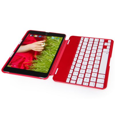 Mini Kee F2S Magnetic Type of Design Bluetooth Keyboard Cover Case with Seven Color Backlight / Stand for iPad Mini