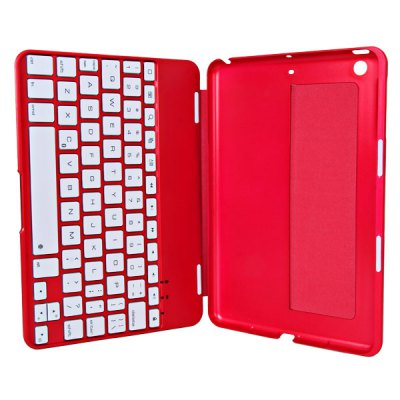 Фотография Mini Kee F2S Magnetic Type of Design Bluetooth Keyboard Cover Case with Seven Color Backlight / Stand for iPad Mini