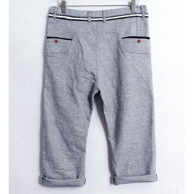 Гаджет   Casual Style Slimming Drawstring Straight Leg Cotton Cropped Pants For Men Pants