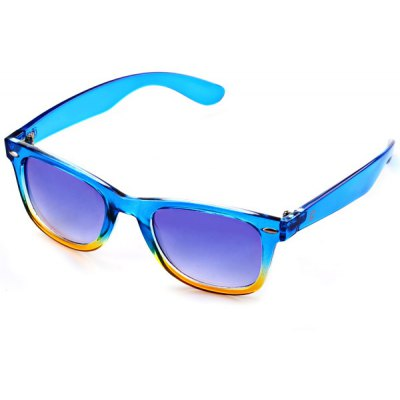 Blue and Yellow Secondary Colour Frame Sunglasses