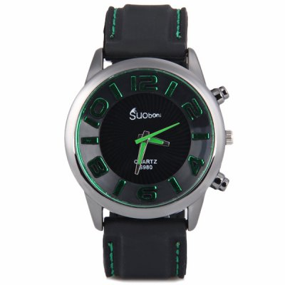Fashion Water Resist Men Wrist Watch Analog Display with Round Dial Silicone Watch BandMens Watches<br>Fashion Water Resist Men Wrist Watch Analog Display with Round Dial Silicone Watch Band<br><br>Watches categories: Male table<br>Watch style: Fashion<br>Movement type: Quartz watch<br>Shape of the dial: Round<br>Display type: Pointer<br>Case material: Metal<br>Band material: Silica gel<br>Clasp type: Pin buckle<br>Water Resistance: Life waterproof<br>The dial thickness: 1.1 cm / 0.4 inch<br>The dial diameter: 4.5 cm / 1.8 inch<br>Product weight: 0.06 kg<br>Product size (L x W x H): 25.8 x 4.5 x 1.1 cm / 10.2 x 1.8 x 0.4 inches<br>Package Contents: 1 x Watch