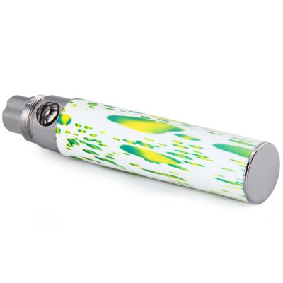 Фотография Crystal Flower Button Spared 650mAh Rechargeable E - Cigarette Lithium Battery Luminous Tube Dotted with Abstract Green Texture Pattern