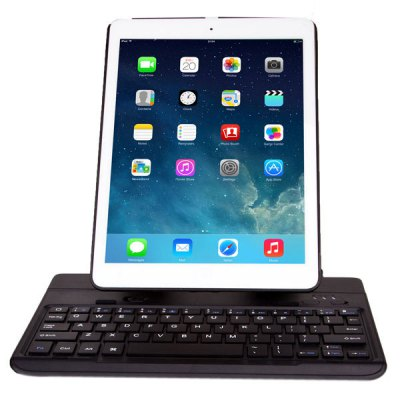 ФОТО Seenda IBK - 06 Rotating Stand ABS Case with Adjustable Detachable Bluetooth 3.0 Keyboard for Apple iPad Air