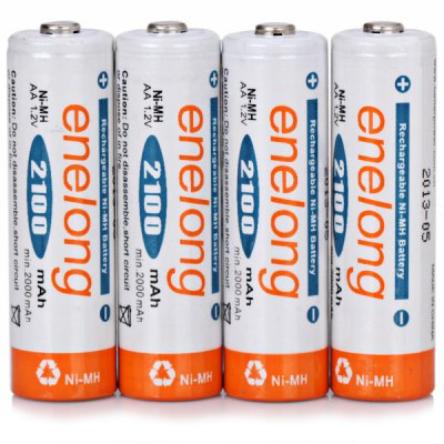 4PCS Enelong AA 2100mAh 1.2V Ni - MH Rechargeable Battery without Protection Board