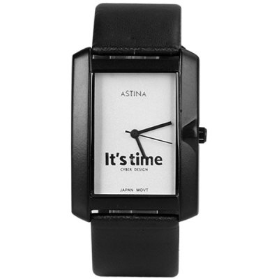 Fashion Women Watch Analog with Simple Design Leather Watch Band