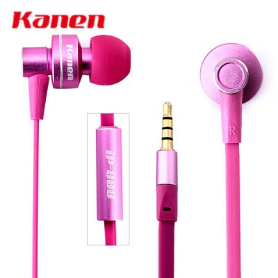 Kanen iP - 808 Detailed Immersive Sound Stage Lebensechten Klang In - ear Headphones Earphones with MIC for Mobile Phones Media Players