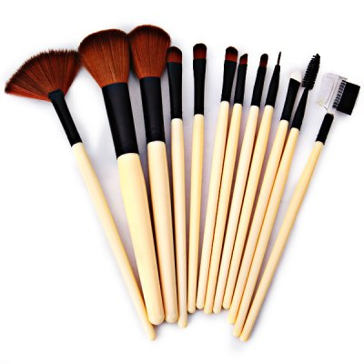 12pcs-professional-soft-cosmetic-face-brush-finishing-powder-blush-brush-sets-for-women-with-red-cloth-bag