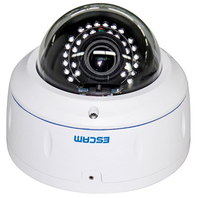 ESCAM HD3500V ProgressiveScan Vari - Focal 2.8 - 12mm Lens Dome Network Camera Infrared H.264 Full HD 1080P Waterproof Support iPhone / iPad / Android Phone Remote Control