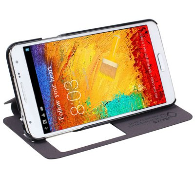 USAMS Starry Sky Series PU + PC Cover Case with View Window for Samsung Galaxy Note 3 Neo