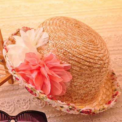 Fashion Lace Flowers Decorated Sun Hat For Women