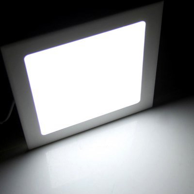 15W AC85 - 265V 1480lm 6000K Cool White Square Ceiling Lamp