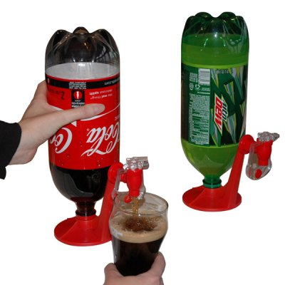 Coke Bottle Inverted Water Dispenser Switch Drinking Device