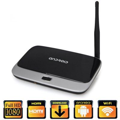 CS918 - Q7 TV Box RK3188 Quad Core Android 4.4TV Box &amp; Mini PC<br>CS918 - Q7 TV Box RK3188 Quad Core Android 4.4<br><br>Model: CS918 - Q7<br>Type: TV Box<br>System: Android 4.4<br>CPU: RK3188<br>Core: Cortex A9,Quad Core<br>GPU: Mali-400<br>RAM: 2G<br>ROM: 8G<br>Color: Black,Golden,Green<br>Video format: AVI,DAT,H.264,MKV,MOV,MP4,MPEG,MPG,REAL MEDIA,RM,VC-1,WMV<br>Audio format: AAC,FLAC,MP3,OGG,WMA<br>Photo Format: JPEG,JPG,jps(3D),mpo(3D),PNG<br>Support XBMC: Yes<br>WIFI: IEEE 802.11 b/g/n<br>Bluetooth: Support<br>Power Supply: Charge Adapter<br>Interface: AV,DC 5V,HDMI,OTG,RJ45,SPDIF,TF card,USB2.0<br>Antenna: Yes<br>Other Features: Support for Multiple Mold, IR Remote Control, Support 3D Movie, Support the Body Feeling Game<br>Power Type: External Power Adapter Mode<br>Product weight: 0.195 kg<br>Package weight: 0.472 kg<br>Product size (L x W x H): 14.50 x 9.70 x 1.60 cm / 5.71 x 3.82 x 0.63 inches<br>Package size (L x W x H): 18.00 x 13.00 x 8.00 cm / 7.09 x 5.12 x 3.15 inches<br>Package Contents: 1 x TV Box, 1 x Power Adapter, 1 x HDMI Cable, 1 x AV Cable, 1 x Remote Control, 1 x User Manual