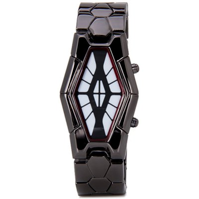 Fashion Men LED Snake Head Stainless Steel Band Bracelet Wrist WatchSports Watches<br>Fashion Men LED Snake Head Stainless Steel Band Bracelet Wrist Watch<br><br>Band material: Stainless Steel<br>Case material: Stainless Steel<br>Clasp type: Buckle<br>Display type: Numbers<br>Movement type: Digital watch<br>Package Contents: 1 x Watch<br>Package weight: 0.1500 kg<br>People: Male table<br>Product size (L x W x H): 21.80 x 3.10 x 1.00 cm / 8.58 x 1.22 x 0.39 inches<br>Product weight: 0.0950 kg<br>The dial diameter: 3.1 cm/1.2 inch<br>The dial thickness: 1.0 cm/0.4 inch<br>Watch style: LED<br>Water resistance : Life waterproof
