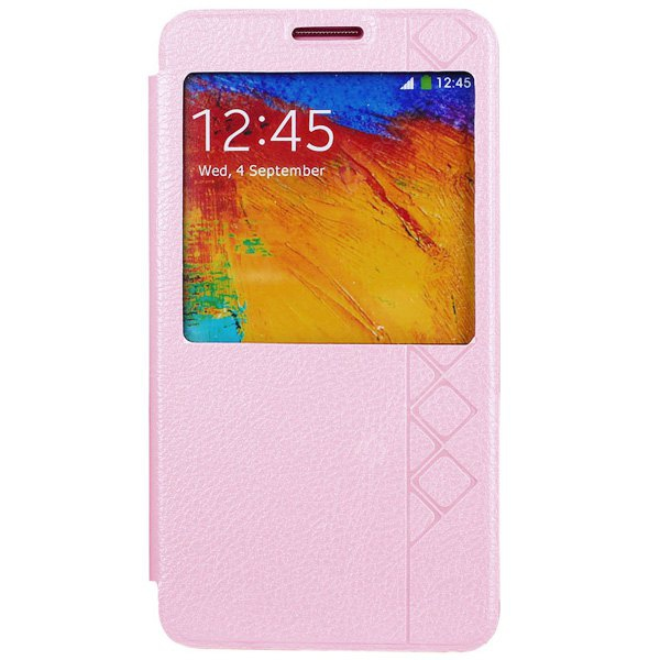 Buy USAMS Starry Sky Series PU + PC Cover Case View Window Samsung Galaxy Note 3 Neo PINK