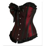 Sexy Slimming Ruffled Polyester Corset For Women