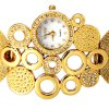 best Fashion Design Watch with Diamonds and Loops Steel Mesh Strap for Women