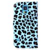 cheap Leopard Style Plastic and PU Leather Case with Card Holder for Samsung Galaxy S5 i9600 SM - G900