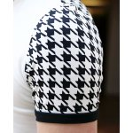 Summer Style Turn-down Colloar Checked Print Shorts Sleeves Cotton Polo Shirt For Men deal
