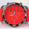 cheap Womage Cool Men Quartz Wrist Watch with Analog Indicate Round Dial and Rubber Watch Band