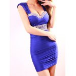 Sexy Low-Cut Diamante Backless Packet Buttock Women's Dress