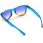 Blue and Yellow Secondary Colour Frame Sunglasses with Durable Blue Resin Lens for sale