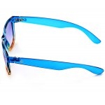 Blue and Yellow Secondary Colour Frame Sunglasses with Durable Blue Resin Lens deal