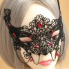 cheap Retro Faux Gemstone Decorated Openwork Lace Mask For Women