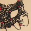 best Retro Faux Gemstone Decorated Openwork Lace Mask For Women