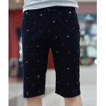Buy Slimming Trendy Colorful Printed Straight Leg Polyester Shorts Men XL CADETBLUE