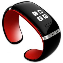 Trendy Style L12S OLED Bluetooth Bracelet Watch with Call ID Display / Answer / Dial / SMS Sync / Music Player / Anti - lost Function for Samsung / HTC + More