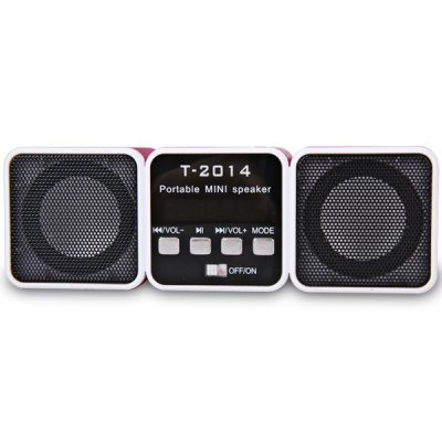 T - 2014 Three Body Shaped Design Music Player With Double Speaker / L