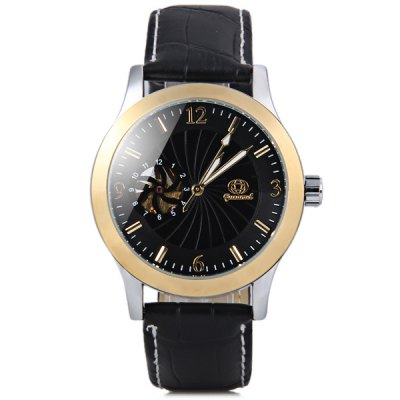 Gucamel Fashion Men Automatic Mechanical Watch with Analog Round Dial Leather WatchbandMechanical Watches<br>Gucamel Fashion Men Automatic Mechanical Watch with Analog Round Dial Leather Watchband<br><br>Brand: Gucamel<br>Watches categories: Male table<br>Watch style: Fashion<br>Style elements: Hollow out<br>Movement type: Automatic mechanical watch<br>Shape of the dial: Round<br>Display type: Pointer<br>Case material: Stainless steel<br>Band material: Genuine leather<br>Clasp type: Pin buckle<br>Water Resistance: Life waterproof<br>The dial thickness: 1.3 cm / 0.5 inch<br>The dial diameter: 3.9 cm / 1.5 inch<br>The band width: 1.9 cm / 0.7 inch<br>Product weight: 0.062 kg<br>Product size (L x W x H): 25.3 x 4.3 x 1.3 cm / 10.0 x 1.7 x 0.5 inches<br>Package Contents: 1 x Watch