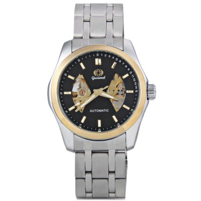 ФОТО Gucamel Popular Men Automatic Mechanical Watch with Analog Round Dial Steel Watchband
