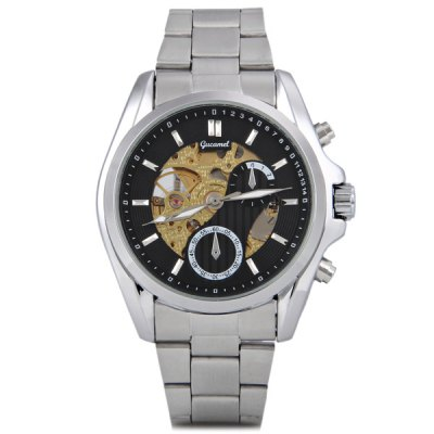 Гаджет   Gucamel Luxury Men Automatic Mechanical Watch with Analog Round Dial Steel Watchband Mechanical Watches