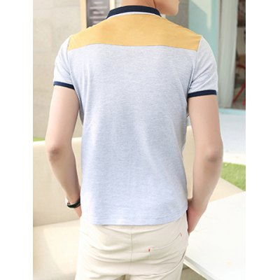 Гаджет   Summer Style Turn-down Collar Pocket Embellished Purfled Short Sleeves Cotton Polo Shirt For Men T-Shirts