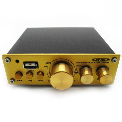 Гаджет   A920 50W HiFi Audio 3D Player Digital Audio Power Amplifier with MP3 Remote Control