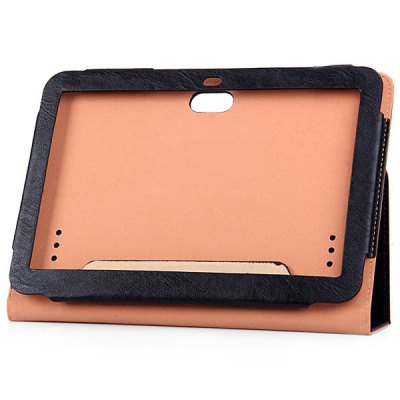 ФОТО Fashionable Frame Pattern Artificial Leather Material Stand Case Professional for 10.1 inch Pipo M9 Tablet PC