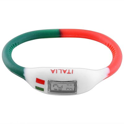 Fashion 2014 FIFA World Cup American Flag Unisex Braclet Wrist Watch Digital Display with Silicone Watch Band