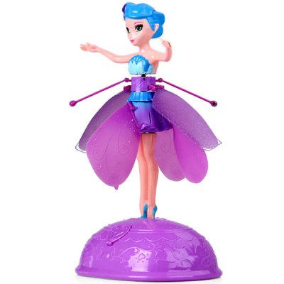 HY - 988A Magic Hover Detection Beautiful Flying Fairy Doll Toy with Music for Children