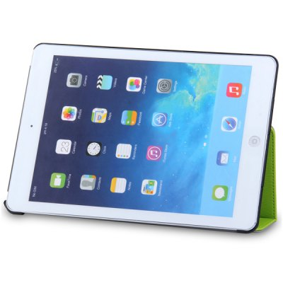 ФОТО Artificial Leather Material and Plastic Stand Case with Sound Enhancement Function for iPad 5
