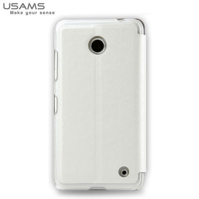 ФОТО USAMS Merry Series PU Leather and Plastic Material Case with Stand Function for Nokia 630