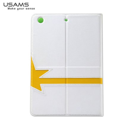 ФОТО USAMS Star Series Artificial Leather and Plastic Material Case with Stand Function for iPad Air