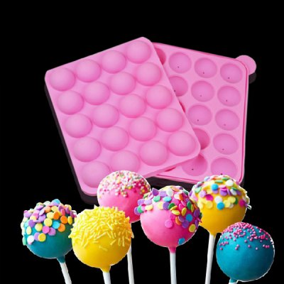 DIY Mould Silicone Tasty Cake POPs 20 Cup with 25PCS Sticks