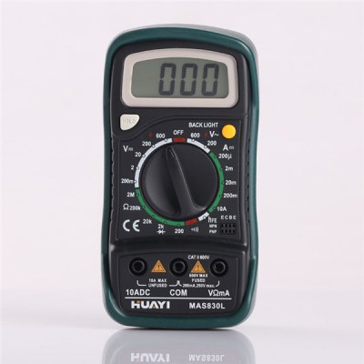 HUAYI MAS830L Mini Digital Ohmmeter Multimeter