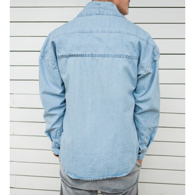 Гаджет   Fashion Style Collarless Simple Design Long Sleeves Cotton Coat For Men Jackets & Coats