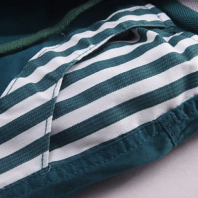 Гаджет   Fashion Style Lace-Up Slimming Hit Color Stripes Letters Embroidery Design Men